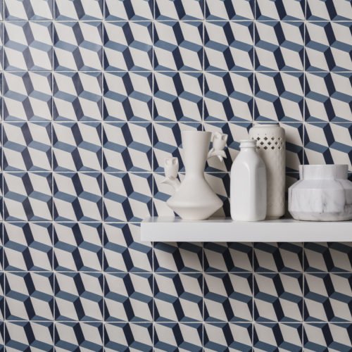 Designing a feature wall with tiles